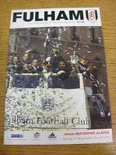 11/08/2001 Fulham v Deportivo Alaves [Friendly] . Thanks for viewing our item, w