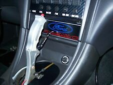 94-02 Mustang Nitrous Turbo Procharger Drag Race Radio and CD Block Off Panel
