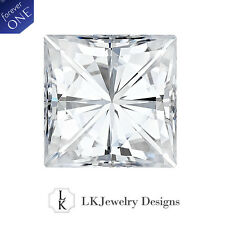 1.70 CT MOISSANITE FOREVER ONE SQUARE LOOSE STONE - 6.5 mm