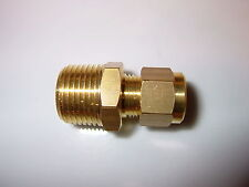 "3/8"" BSP to 8mm brass compression straight, Motor home Caravan Boat Gas fitting."