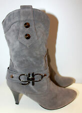 Unknown brand grey boots women Eur 37 US-Aus 6.5 UK 4.5 Used from Italy