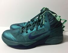 Nike Zoom Hyperfuse 2013 Basketball Shoes Mineral Teal Green Glow 9.5