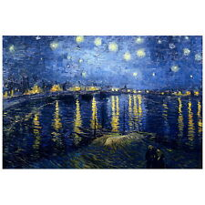 Van Gogh, Starry Night over the Rhone Deco FRIDGE MAGNET, 1888 Fine Art Repro