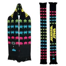 Classic Video Game SPACE INVADERS Official 6' Reversible SCARF Winter Jacquard