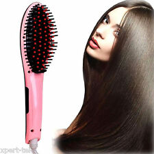 Electric Hair Straightener Massager Comb Iron Brush LCD Auto Temperature Control