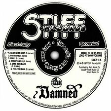 The Damned. Damned Damned Damned record label sticker. Punk