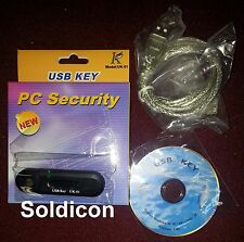 NEW PC Computer USB Security Key + Password for Lock Windows OS XP/Vista/7/8/10