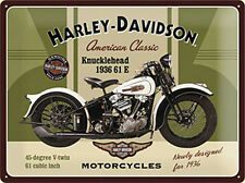 Harley Davidson Knucklehead small steel sign  200mm x 150mm   (na)