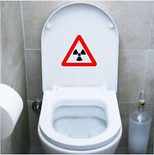 wall stickers adesivo wc pericolo dangerous bagno water toilette