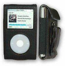 CrazyOnDigital Premium Black Leather Case Apple iPod Video/Classic. Retail