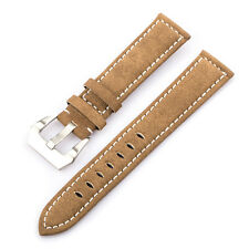 Tera 20mm Nubuck Leather Replacement Bracelet Watch Band Strap with Buckle Brown