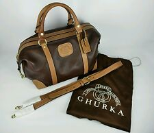 GHURKA Heritage LUXURY Collection Genuine Brown LEATHER Mini-Cav No.585 Hand Bag