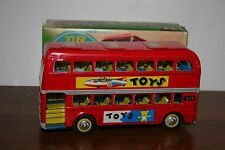 VINTAGE 1970'S TIN  FRICTION OPERATED DOUBLE DECKER  BUS  in BOX