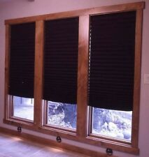 """Black Out Pleated Shade Window Blinds 48"""" x 72"""" 6 Pack Room Darkening Treatment"""