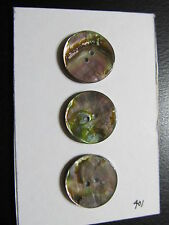 "Pearl Blazer Button Lot coat suit Sew Trims Genuine Pearl  Gr. Abalone 1""   8 P"