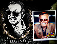 GENTLE GIANT STAN LEE Shirt & Autographed Photo 2011 SDCC  Rare Limited VIP Swag