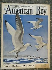 American Boy Magazine  September 1936  Manning deV Lee Cover VINTAGE ADS  Keds