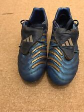 ADIDAS PREDATOR PULSE SG Terreno Morbido Blu Scarpe Da Calcio UK 8