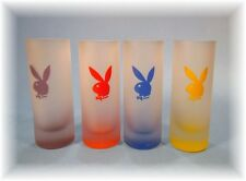 PLAYBOY SET OF 4 SHOT GLASSES NEW
