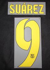 Original 2015 Barcelona FC SUAREZ Spieler-Player-Flock für NIKE HOME Trikot NEU