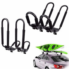 2 Pairs Snowboard Kayak Carrier Boat Canoe Surf Ski Board Roof Top Mounted Rack