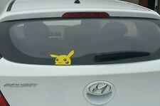 Yellow PEEPING PIKACHU  Sticker Decal Pokemon Go JDM Drift Car Ute 4x4 Funny