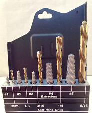 58510 Norseman / Viking SPRSQ3 10pc Screw Extractor Set USA Left Hand Bits USA