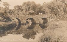 PAUL'S BRIDGE, READVILLE, HYDE PARK, MASS.-RPPC-CIRCA 1920's DB REAL PHOTO 490