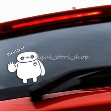 Hello funny Warm Baymax Big Hero cartoon vehicle random car stickers wall decals