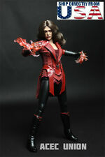 1/6 Scarlet Witch Clothing Set For Elizabeth Olsen Hot Toys Phicen Figure U.S.A.