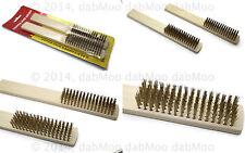 2 x rame solido testa Filo Spazzola pulisci candela PCB morsetti della batteria più pulite