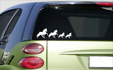 "Walking horse family (7.5""X4"") sticker *E982* decal cute laptop tennessee walker"