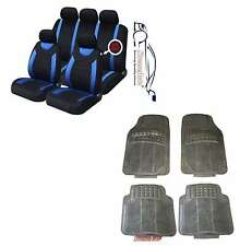 CARNABY BLUE CAR SEAT COVERS + RUBBER FLOOR MATS FOR BMW 1, 3, 4 ,5, 6 Series