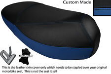ROYAL BLUE & BLACK CUSTOM FITS MALAGUTI CIAK 50 DUAL LEATHER SEAT COVER ONLY