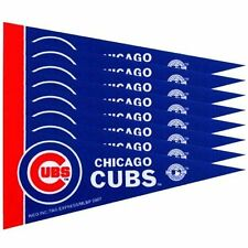 "Chicago Cubs 4"" x 9"" Mini Pennant Banner Flag Fan Cave Decor 8 Pack Set MLB"