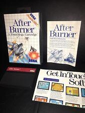 After Burner (Sega Master, 1988) A Four-Mega Cartridge w/ Case, Artwork & Manual