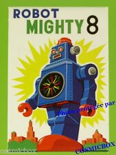 Magnet ROBOT MIGHTY 8 imant Robert Lesser POPCORN POSTERS science fiction art