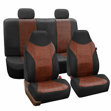 Luxury PU Leather Car Seat Cover Sporty Look Black Brown For Car SUV