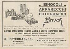 Z1857 Apparecchi Fotografici BUSCH - Pubblicità d'epoca - 1929 Old advertising