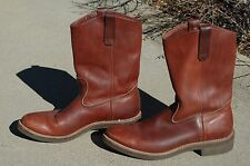 "Vintage Eddie Bauer Seattle ""Pecos Style"" Brown Leather  Boots Men's Size 10 1/2"