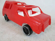 Vintage Gay Toys red plastic Ford pick up truck w/topper camper