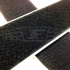 BLACK STICKY BACK SELF ADHESIVE TAPE HOOK & LOOP 50mm x 1 meter, PEEL OFF TAPES