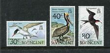St Vincent 379-381 MNH Birds: Royal Tern, Brown Pelican 1974 x19950