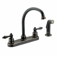 Designers Impressions Oil Rubbed Bronze Kitchen Faucet with Sprayer #651779
