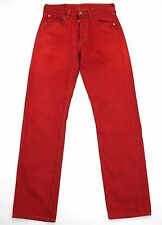 VINTAGE LEVI'S 501 RED ULTIMATE DENIM HIGH WAISTED BOYFRIEND JEANS W27 L31 LV898