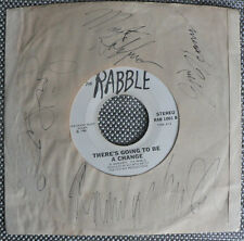 LA PUNK KBD 45 rpm THE RABBLE on PRVT lb YOU NEED IT 1980 SIGNED SLEEVE by BAND