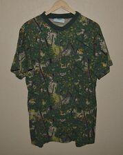 Mens Vintage VTG Bushlan Camouflage Camo Pocket T-Shirt size Large Hunting