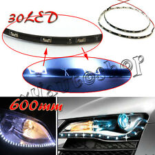 "2x 60CM 24"" Car SMD Side-emitting Glow Shine Flexible LED Strip Light 12V White"