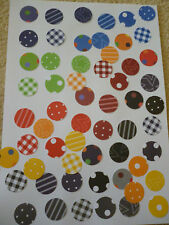 50 Pces SCRAPBOOKING Patterned  CIRCLE  Paper Punches  2.5cm x 2.5cm