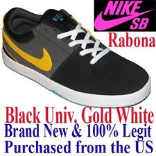 Nike SB RABONA Women's SIZE 8.0 - BLACK YELLOW Skateboard Shoes Skate Sneaker